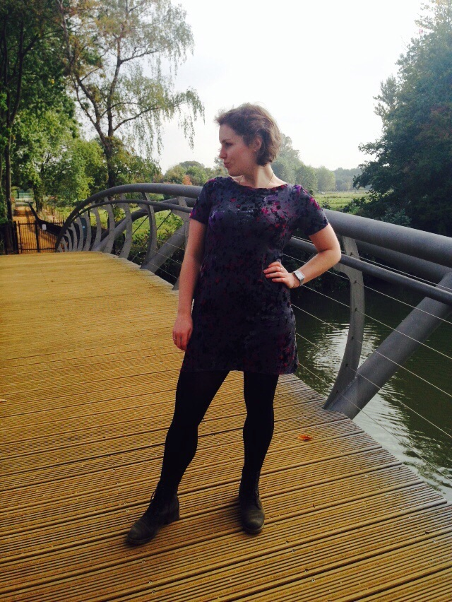 Posing on the bridge...